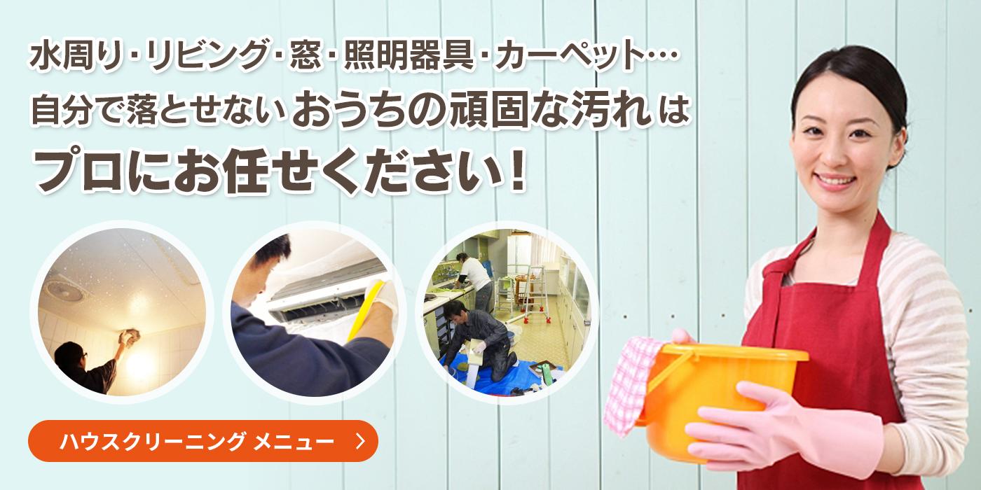 水周り・リビング・窓・照明器具・カーペット…自分で落とせないおうちの頑固な汚れはプロにお任せください!